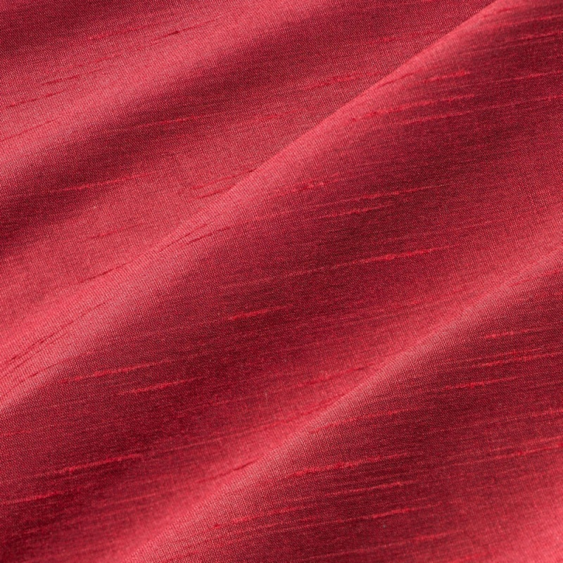 James Hare Astor Faux Silk Dupion Cranberry