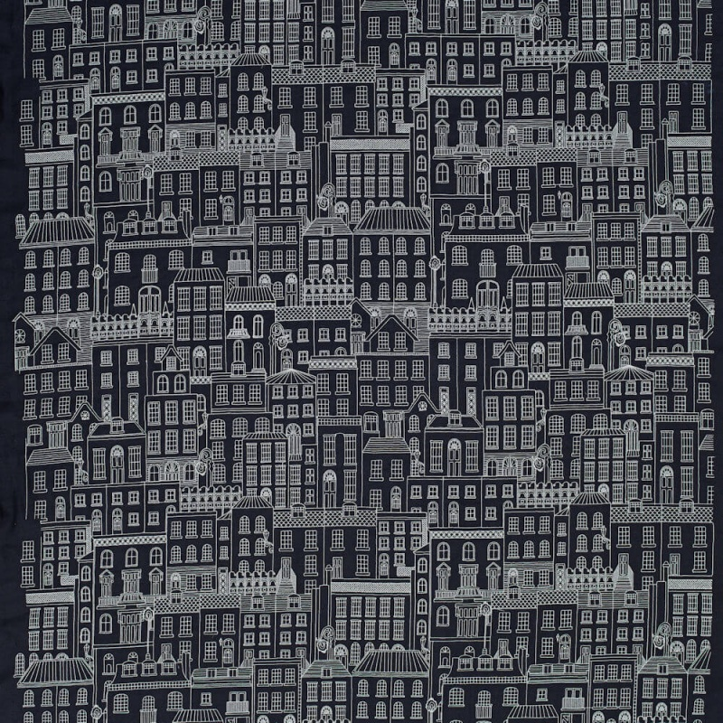 James Hare Berkeley Square Fabric Navy