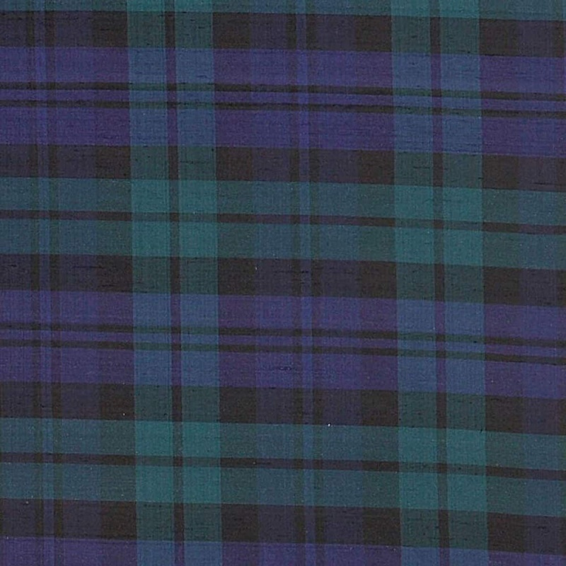 James Hare Black Watch Tartan Silk