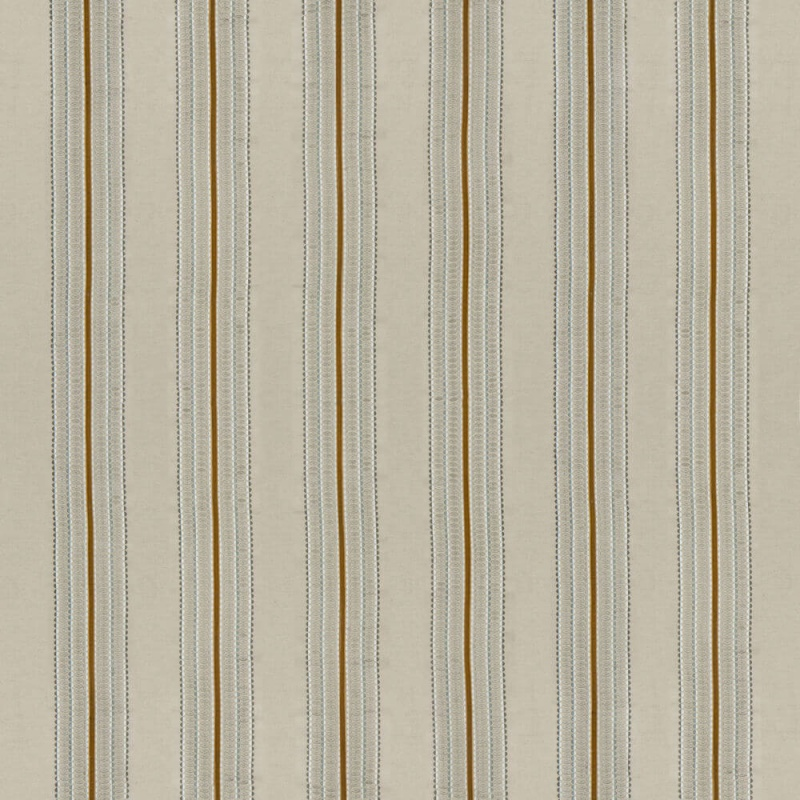 James Hare Ceylon Stripe Fabric Natural/Ochre