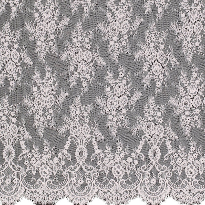 James Hare Chantilly Lace Fabric Spring Rose
