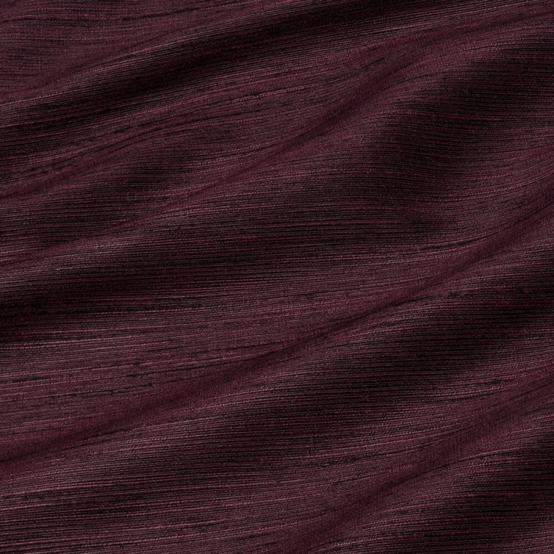 James Hare Chiltern Faux Silk Fabric Cabernet