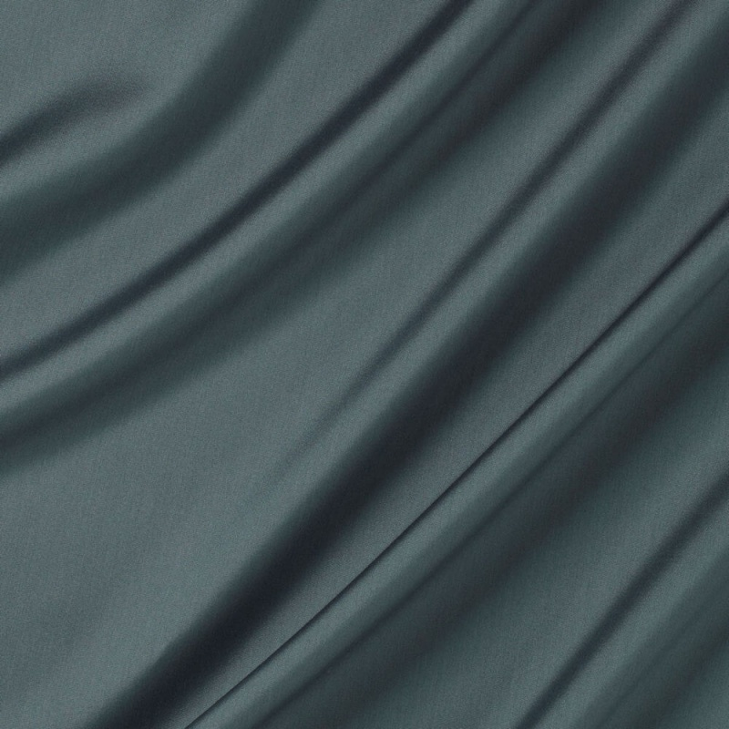 James Hare Connaught Silk Fabric  Slate Blue