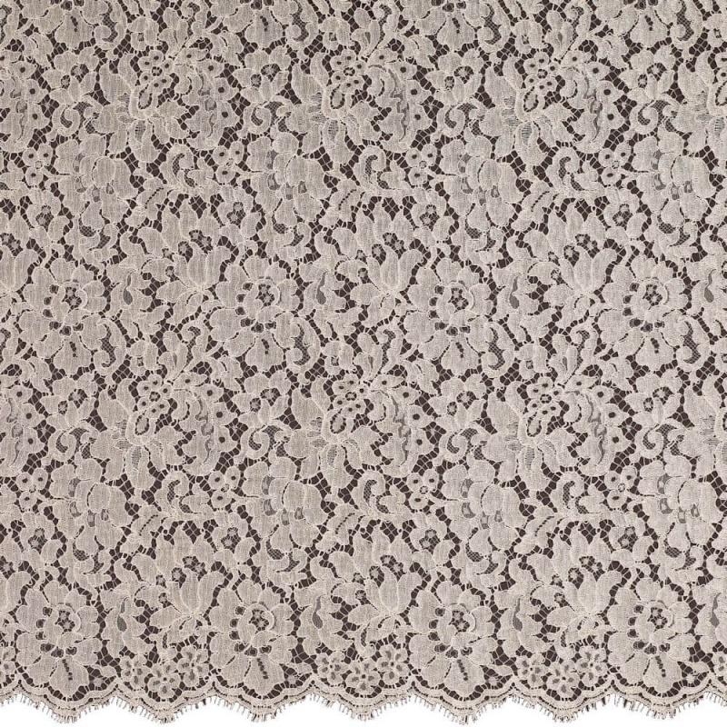 James Hare French Corded Lace Fabric Champagne