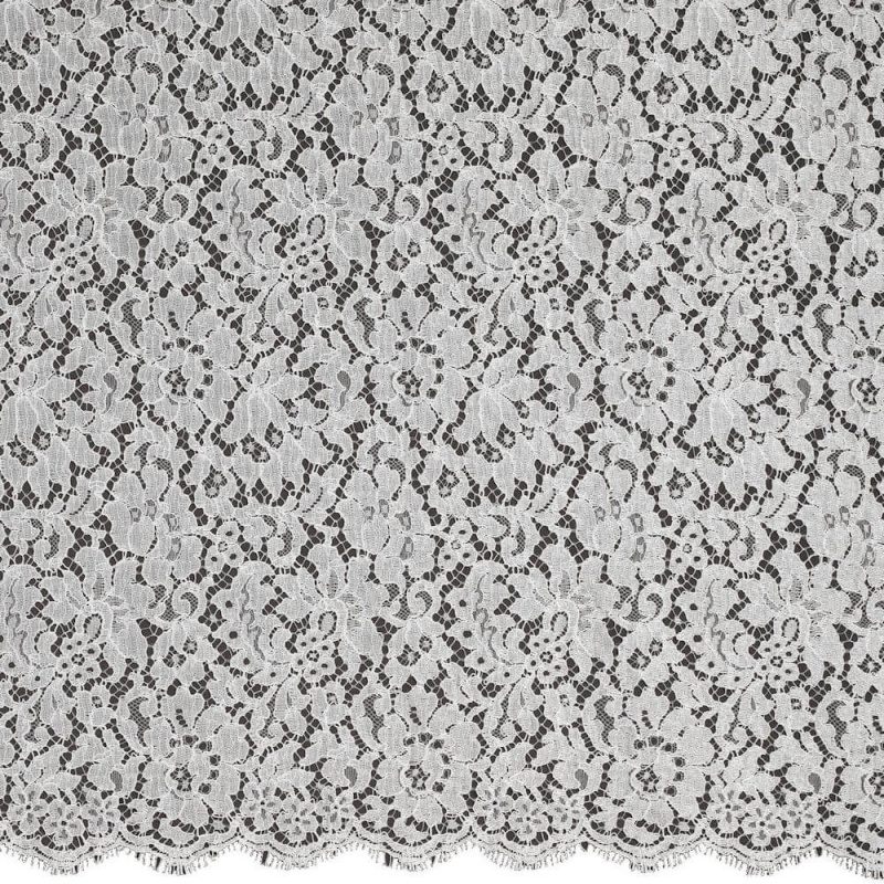 James Hare French Corded Lace Fabric Ivory