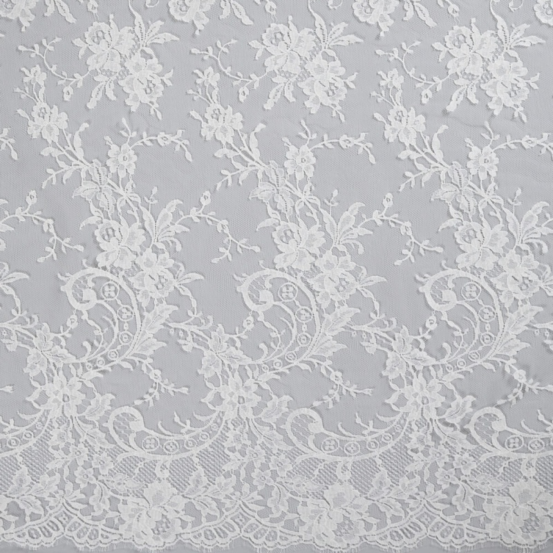 James Hare French Lace Fabric Ivory