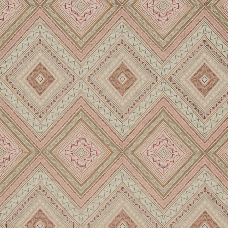 James Hare Fuji Fabric Natural/Dusky Rose