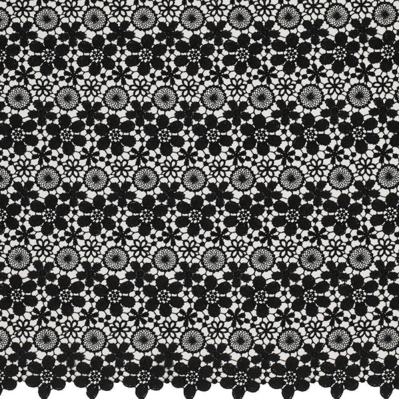 James Hare Guipure Lace Fabric Black