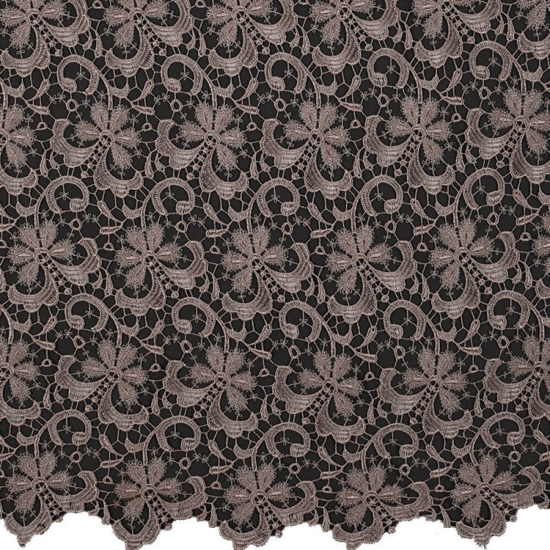 James Hare Guipure Lace Fabric Wild Mink