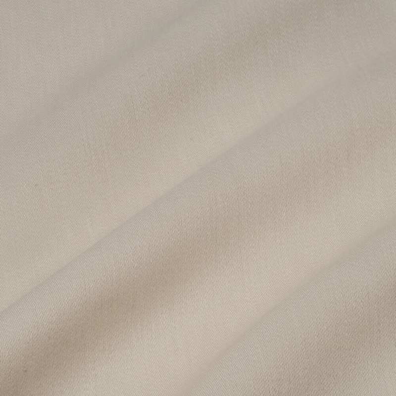 James Hare Iona Satin Linen Fabric Bone