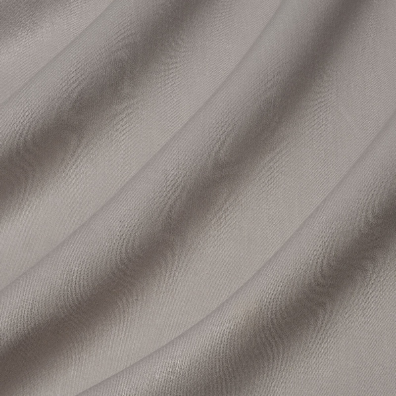 James Hare Iona Satin Linen Fabric Grey Stone