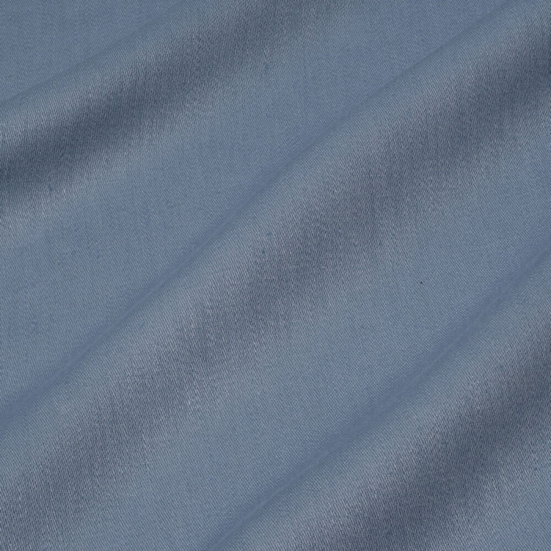 James Hare Iona Satin Linen Fabric Luna Blue