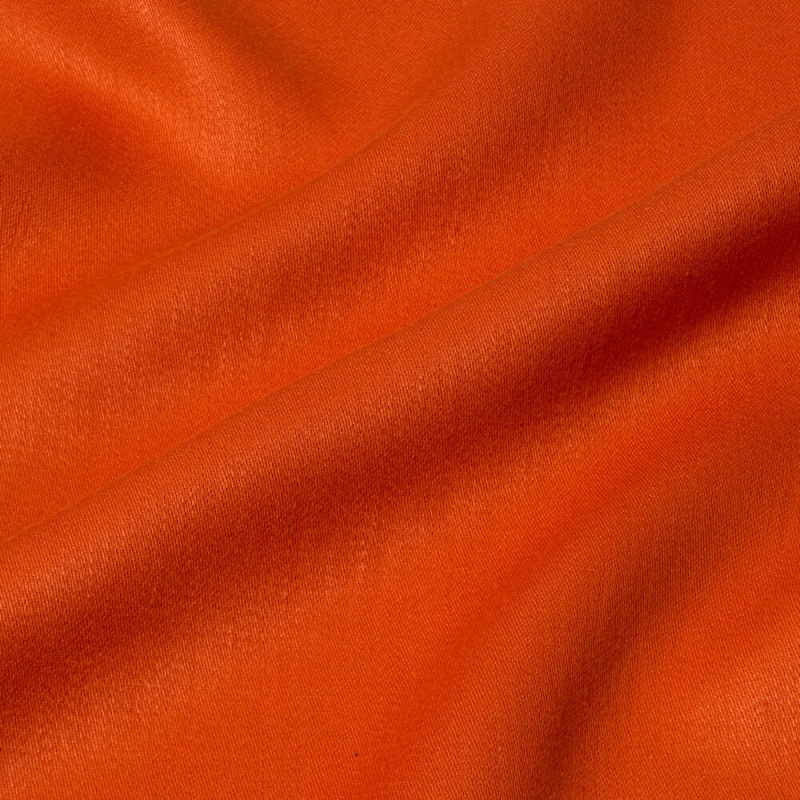 James Hare Iona Satin Linen Fabric Orange