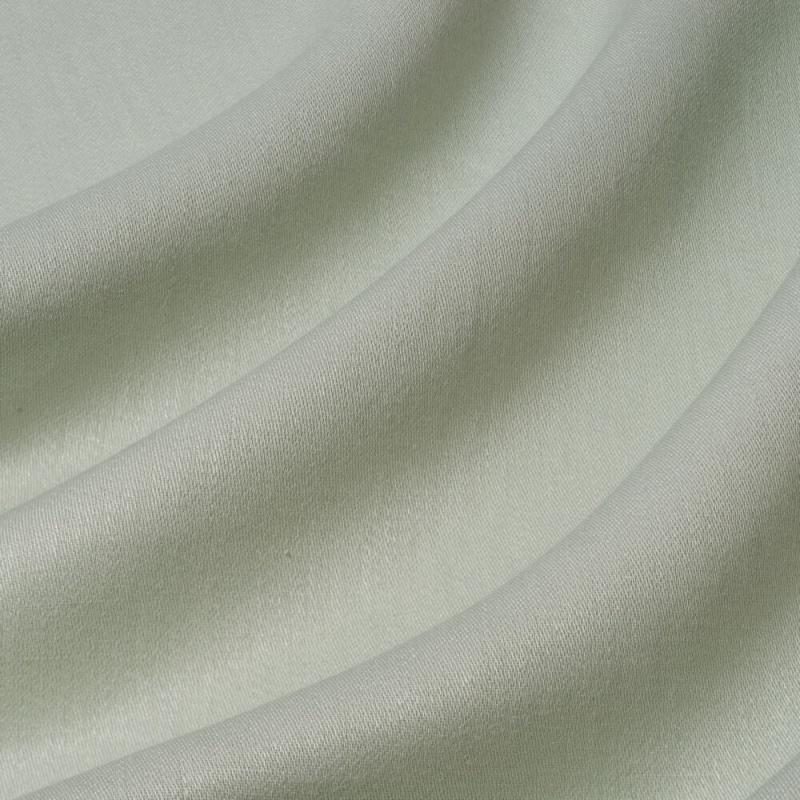 James Hare Iona Satin Linen Fabric Peppermint