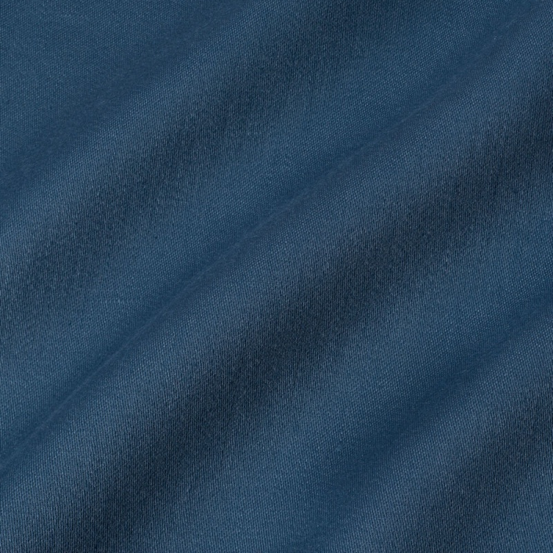 James Hare Iona Satin Linen Fabric Petrol Blue