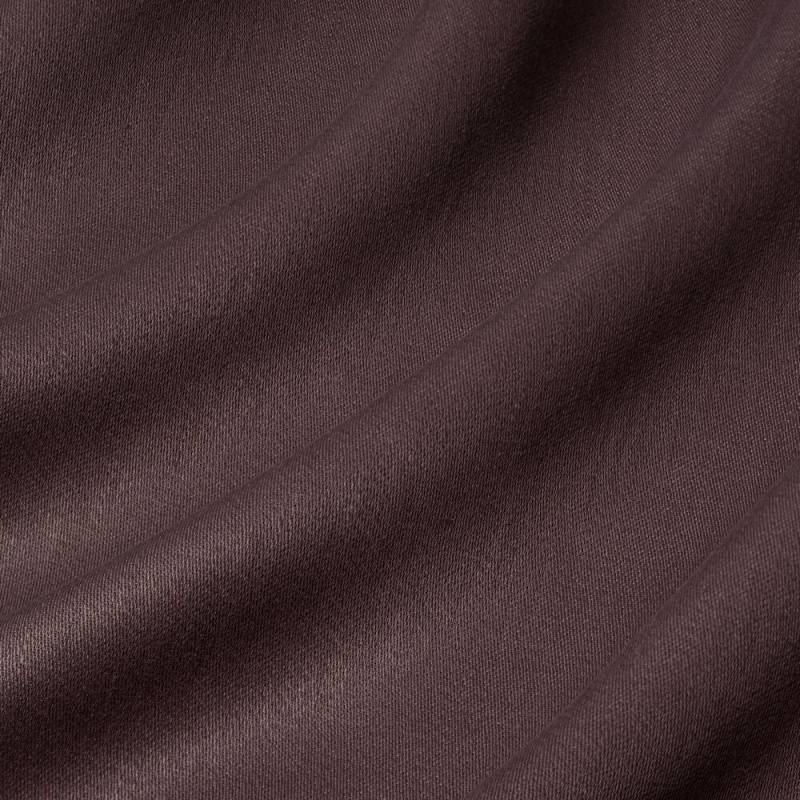James Hare Iona Satin Linen Fabric Purple Basil