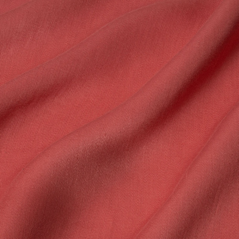 James Hare Iona Satin Linen Fabric Rose Madder