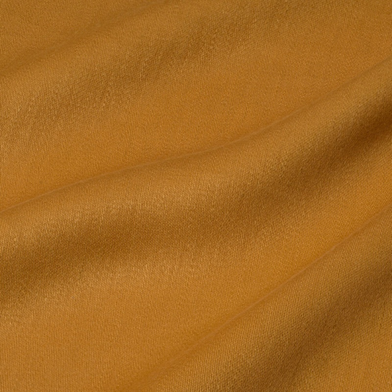 James Hare Iona Satin Linen Fabric Squash