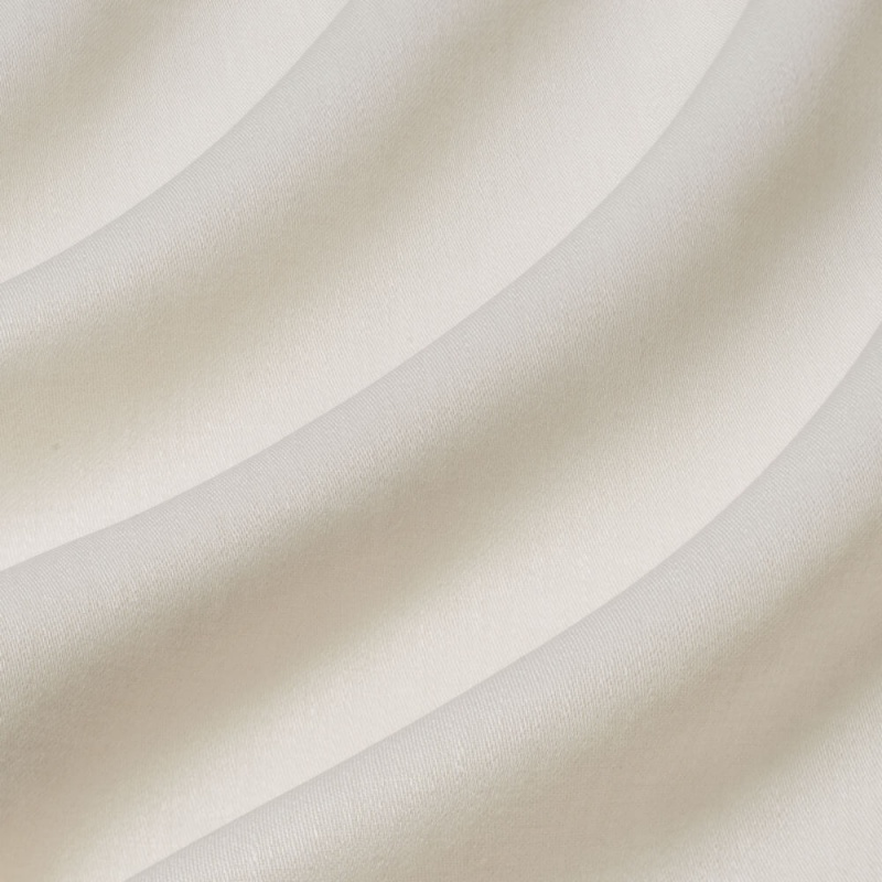 James Hare Iona Satin Linen Fabric Swan