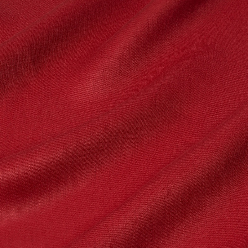 James Hare Iona Satin Linen Fabric Vermillion