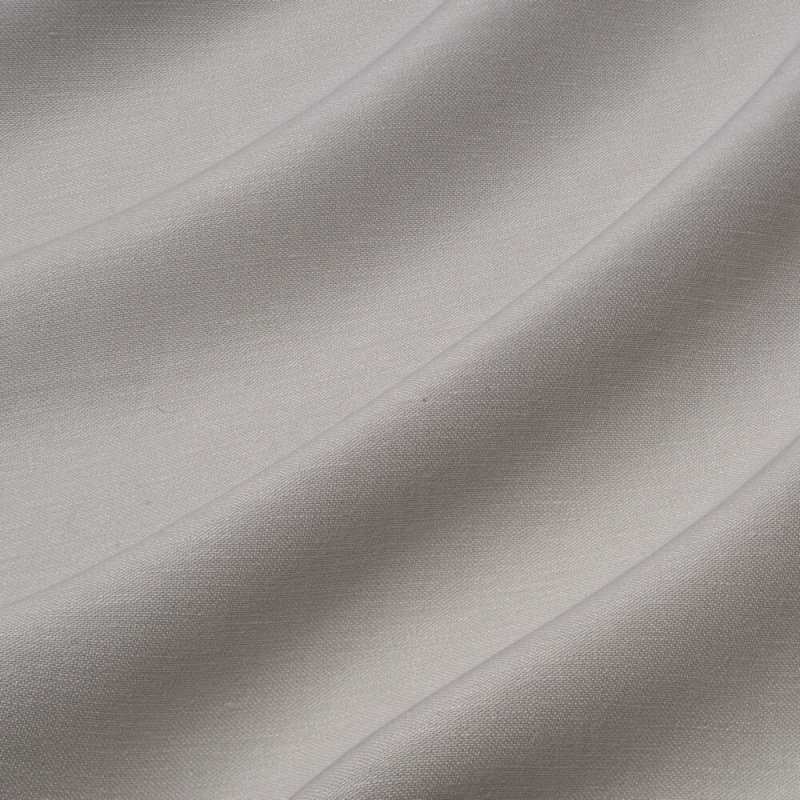 James Hare Iona Satin Linen Fabric Washed Silver