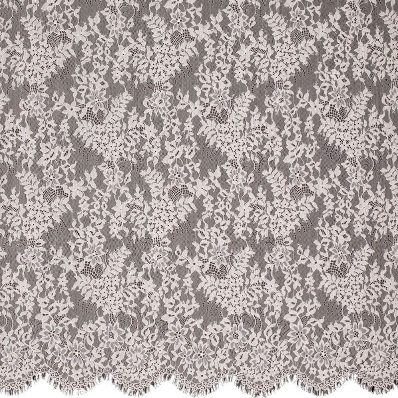 James Hare Levers Lace Fabric Blossom Pink