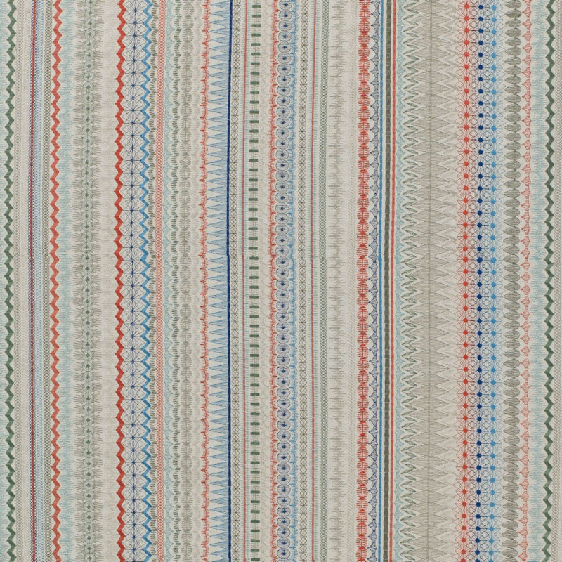 James Hare Mikado Fabric Coral Blue