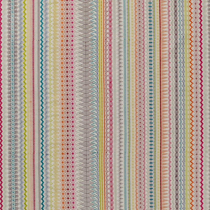James Hare Mikado Fabric Rainbow