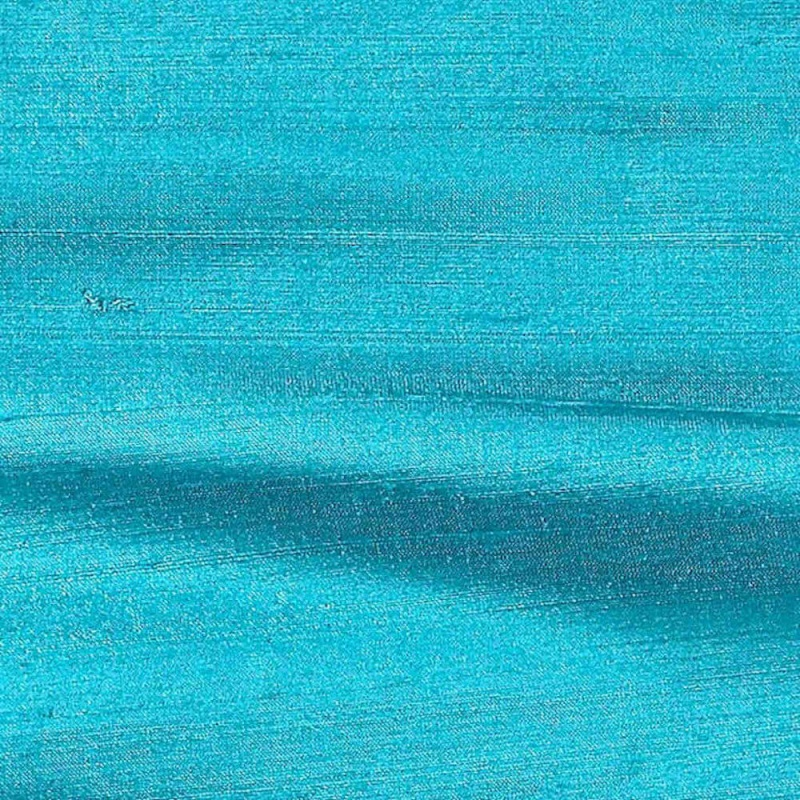 James Hare Orissa Silk Fabric Aqua