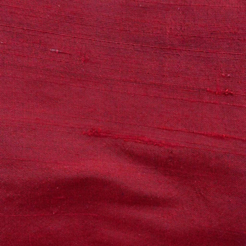 James Hare Orissa Silk Fabric Black/Red