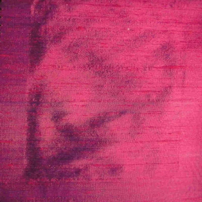 James Hare Orissa Silk Fabric Fuchsia