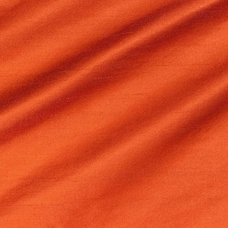 James Hare Regal Silk Fabric Indian Orange