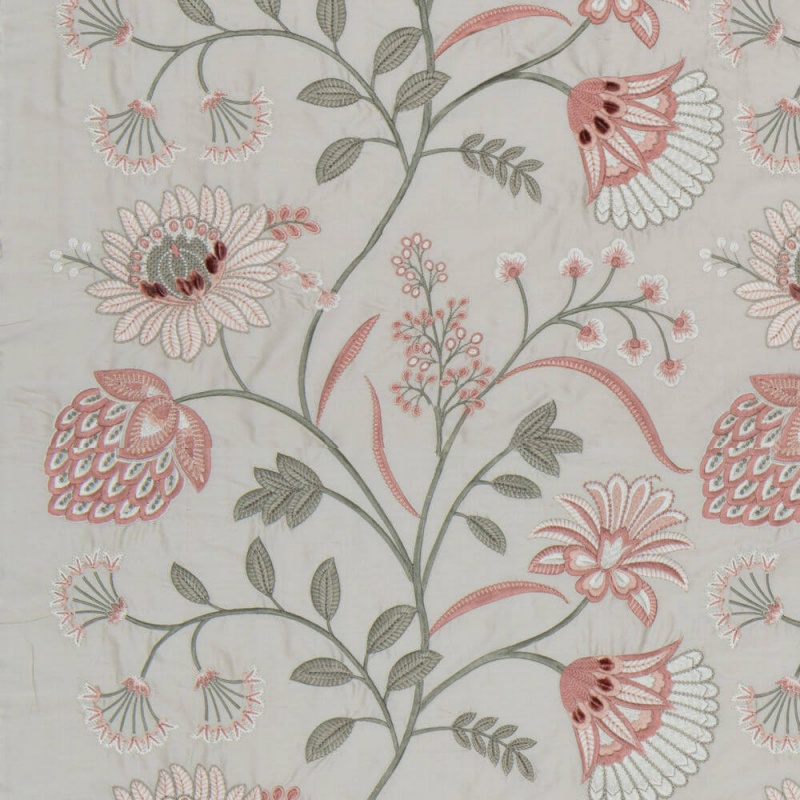 James Hare Siam Silk Fabric Rice Paper/Dusky Rose