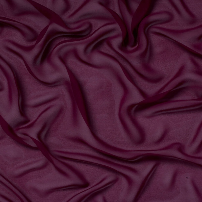 James Hare Silk Georgette Fabric Mulberry
