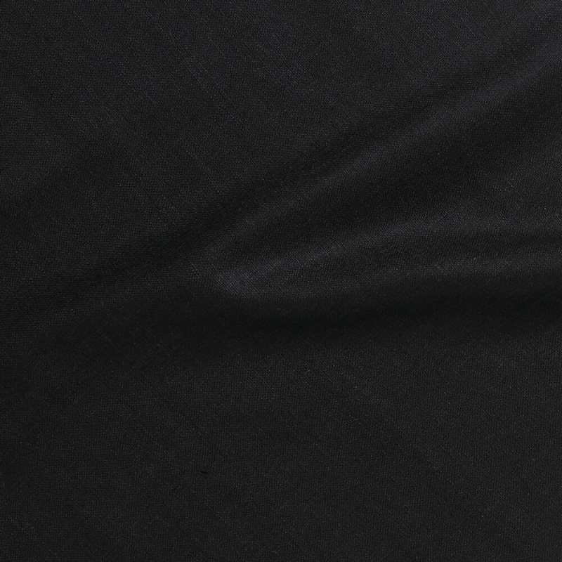 James Hare Simla Silk Matka Fabric Black