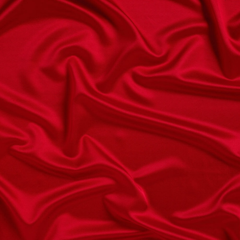 James Hare Stretch Crepe Backed Satin Rose Red
