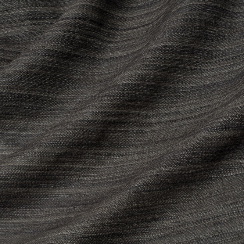 James Hare Vyne Silk Tussah Fabric Black Bean