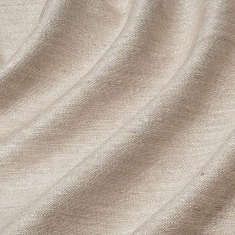James Hare Vyne Silk Tussah Fabric Blanched Almond