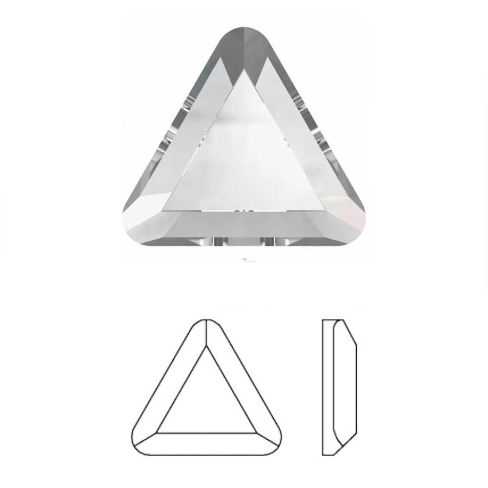 Crystal Swarovski® HOTFIX Triangle Flatbacks