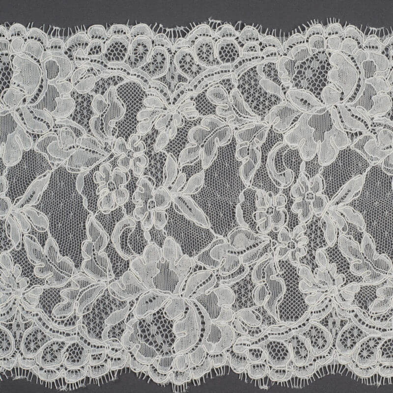 James Hare Corded Raschel Lace Border Trim Ivory