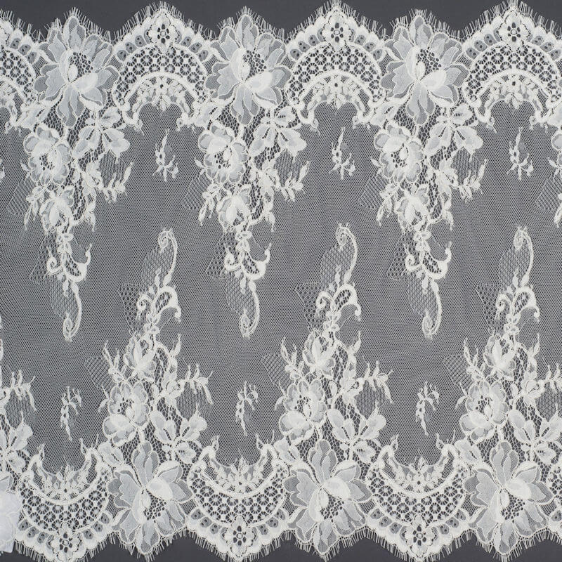 James Hare Corded Raschel Lace Border Ivory