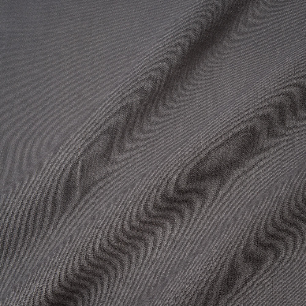 James Hare Iona Satin Linen Fabric Brushed Nickle
