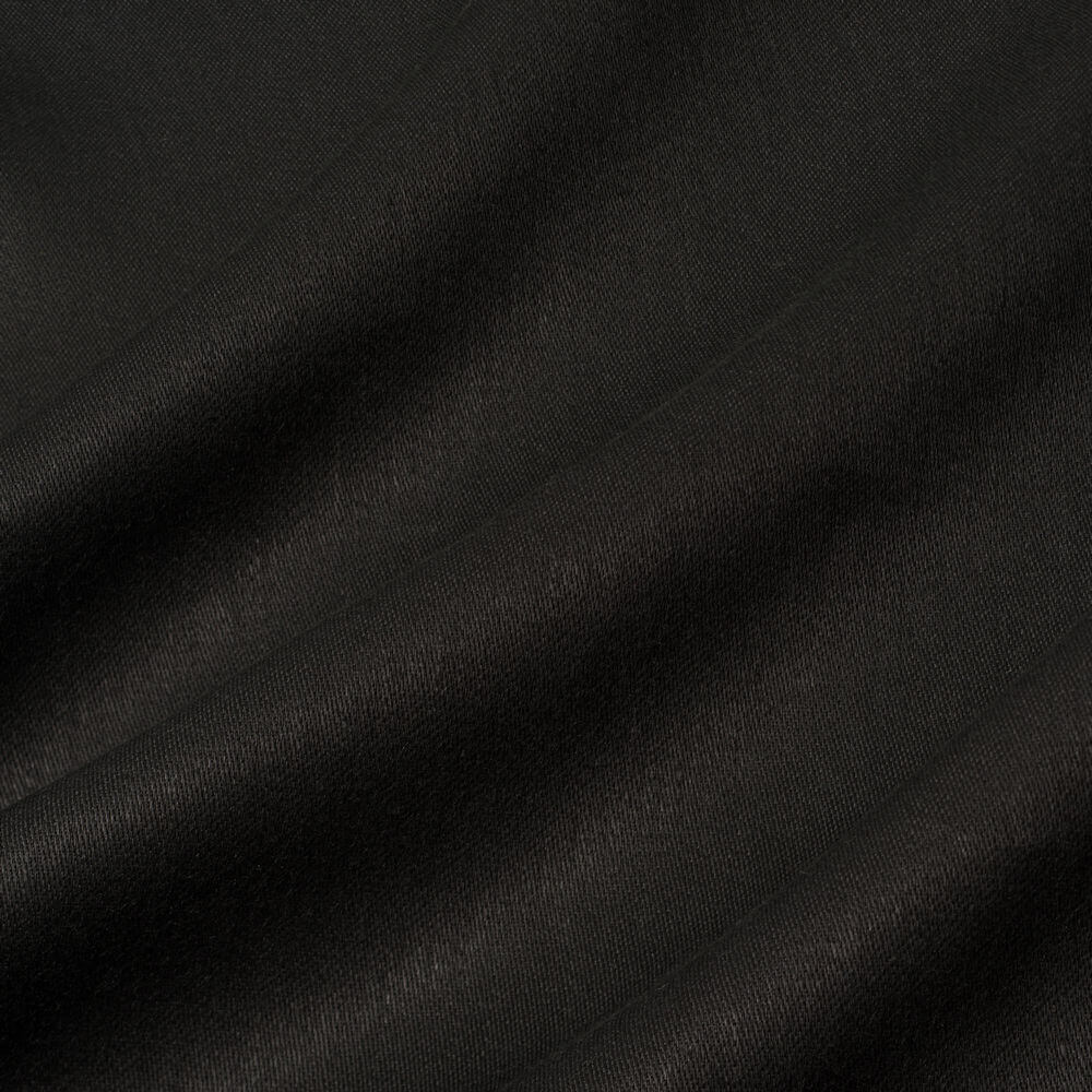 James Hare Iona Satin Linen Fabric Coal