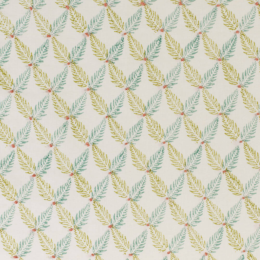 James Hare Knot Garden Fabric Green