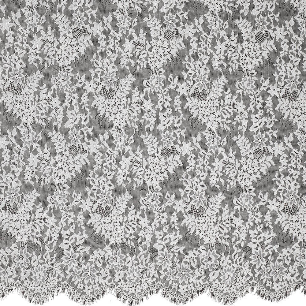 James Hare Levers Lace Fabric Crystal