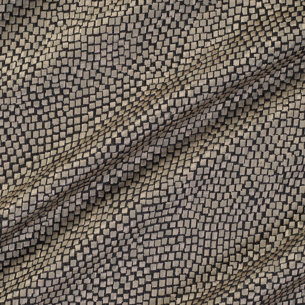 James Hare Tesserae Silk Fabric Agate