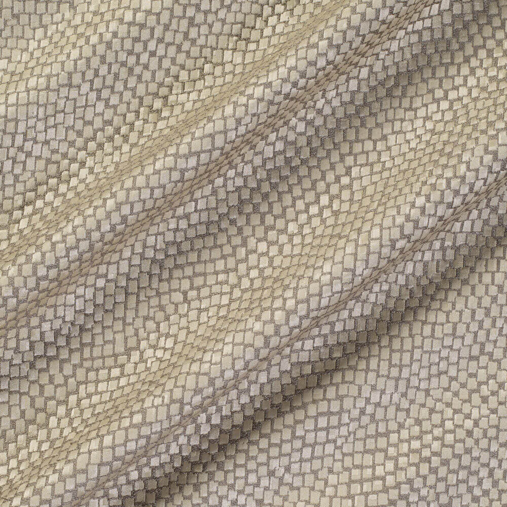 James Hare Tesserae Silk Fabric Cobra