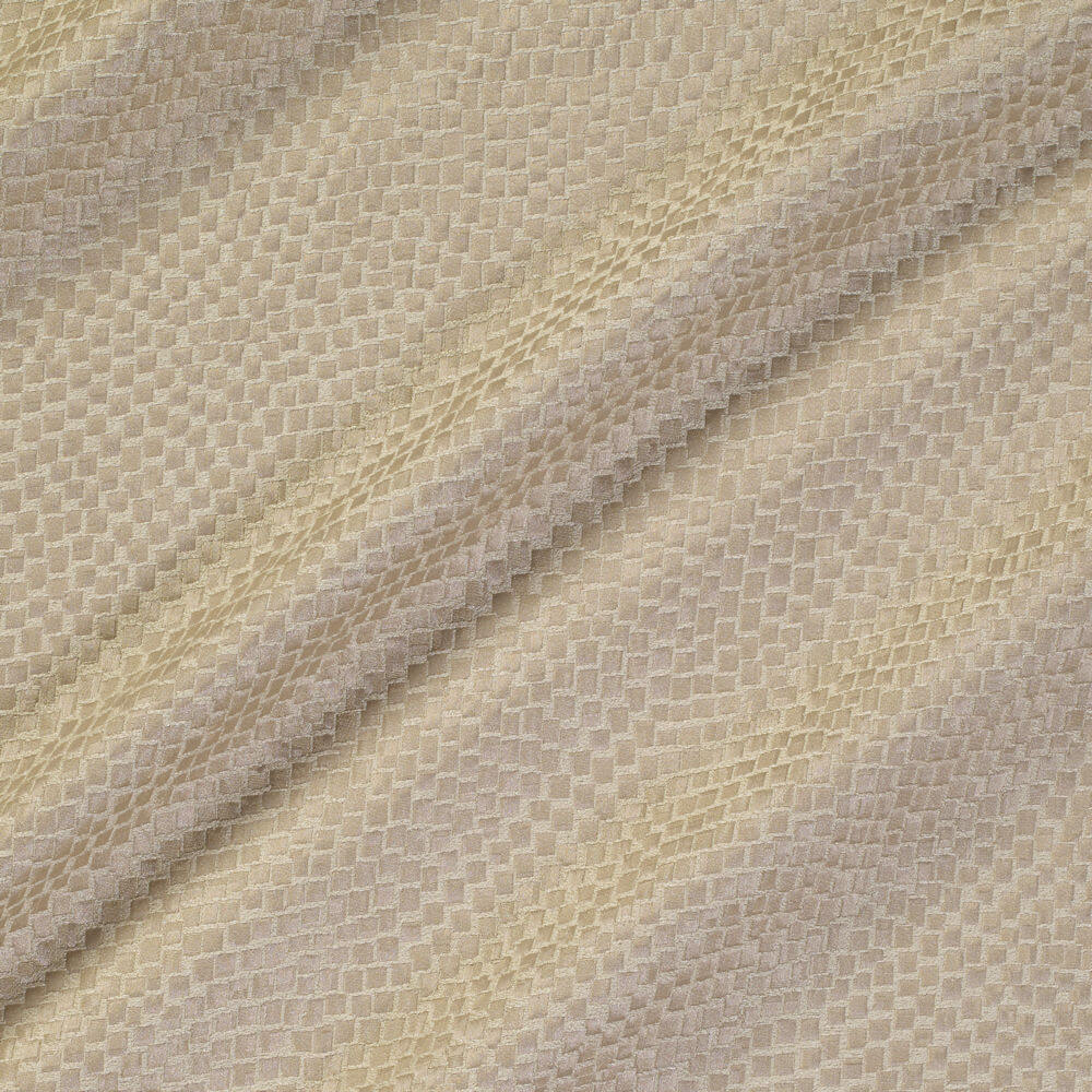 James Hare Tesserae Silk Fabric Goose