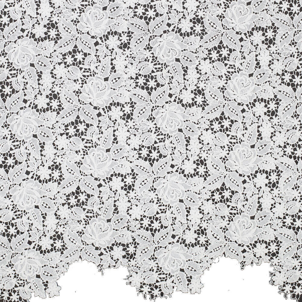 James Hare Venetian Guipure Lace Fabric Ivory