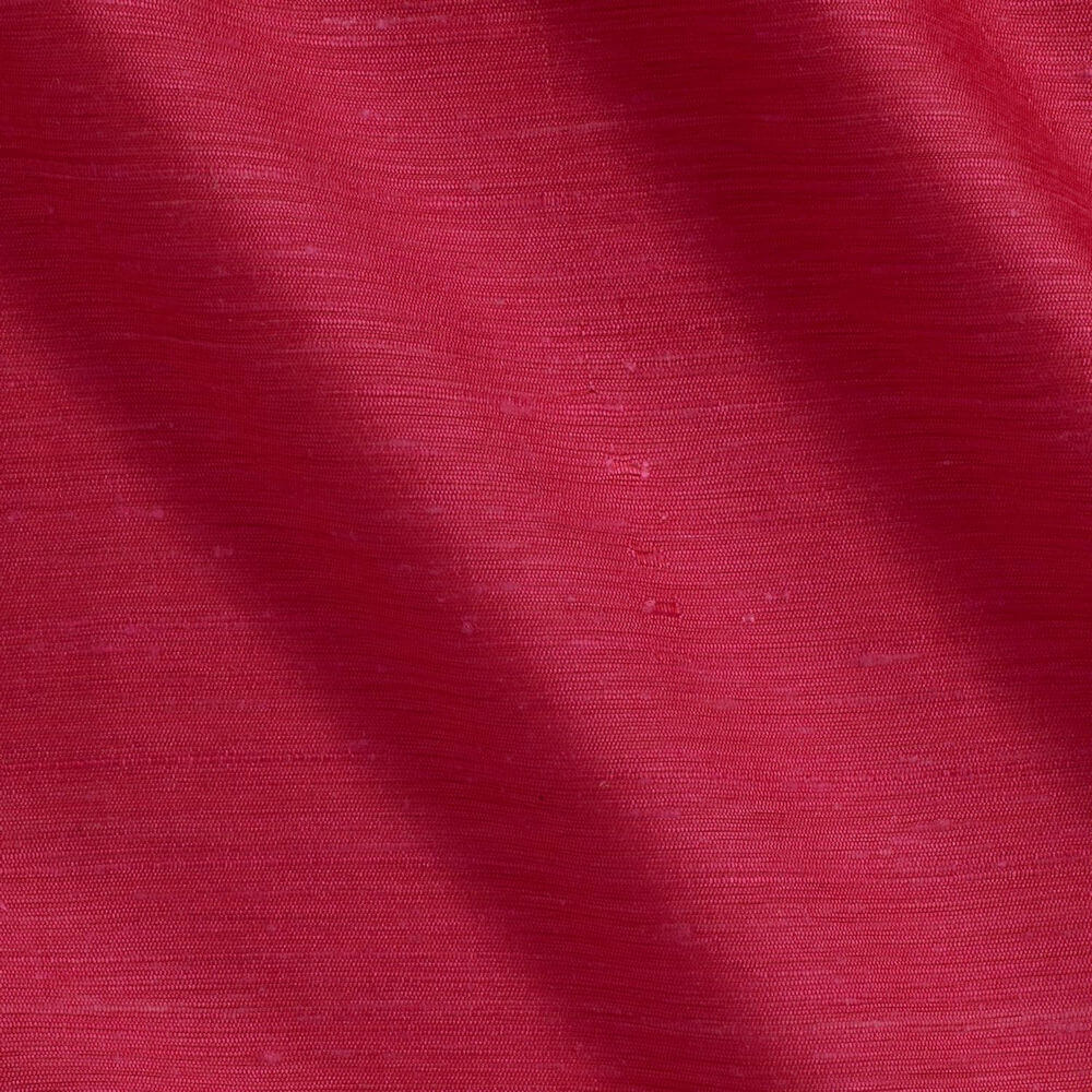 James Hare Vienne Silk Fabric Raspberry Coulis